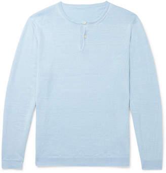 Anderson & Sheppard Linen Henley T-Shirt