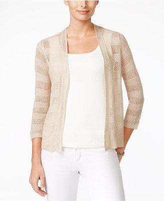 Charter Club Open-Knit Striped Cardigan, Only at Macy's $49.50 thestylecure.com