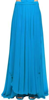 Elie Saab Lvr Edition Crepe Georgette Long Skirt