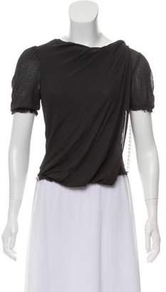 David Szeto Distressed Short Sleeve Top