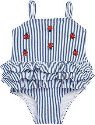 7bcb7faf2eb29 Tucker + Tate Embroidered Stripe One-Piece Swimsuit