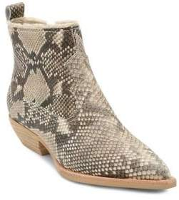 Dolce Vita Unity Snake Print Leather Booties