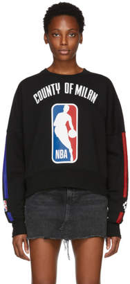 Marcelo Burlon County of Milan Black NBA Edition Sweatshirt