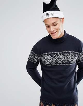 Threadbare Fairisle Turtleneck Holidays Sweater
