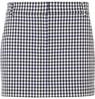 Tibi Gingham Twill Mini Skirt - Black