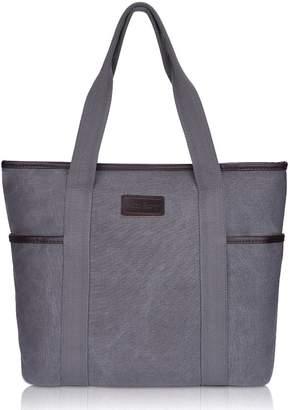 Sunny Snowy Canvas Tote Satchel Handbags Large Purse Shoulder Bag(8002,Gray)
