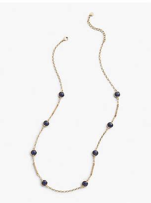 Talbots Indigo Bead Layer Necklace