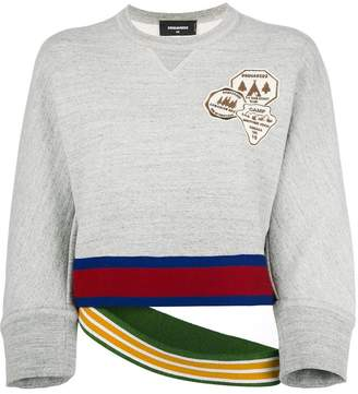DSQUARED2 sweatshirt with double waistband