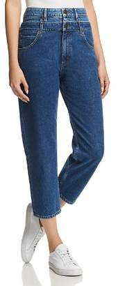 Sandro Kitty Cropped Double Waist-Effect Jeans