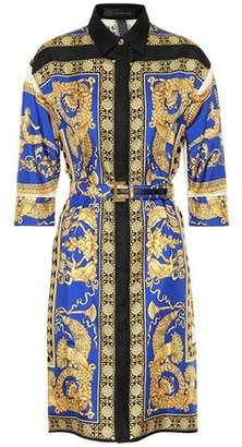 Versace Scarf-printed silk shirt dress