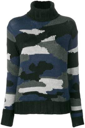 P.A.R.O.S.H. camouflage turtleneck sweater