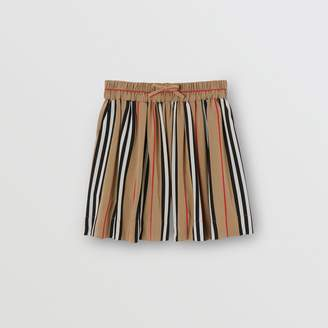 Burberry Gathered Icon Stripe Drawcord Shorts
