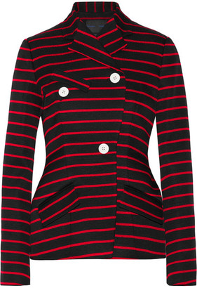 Proenza Schouler - Striped Cotton And Wool-blend Jacquard Blazer - Black $2,350 thestylecure.com