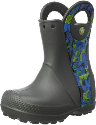 Crocs Handle It Graphic Rain Boot Kids Pull-On Boot