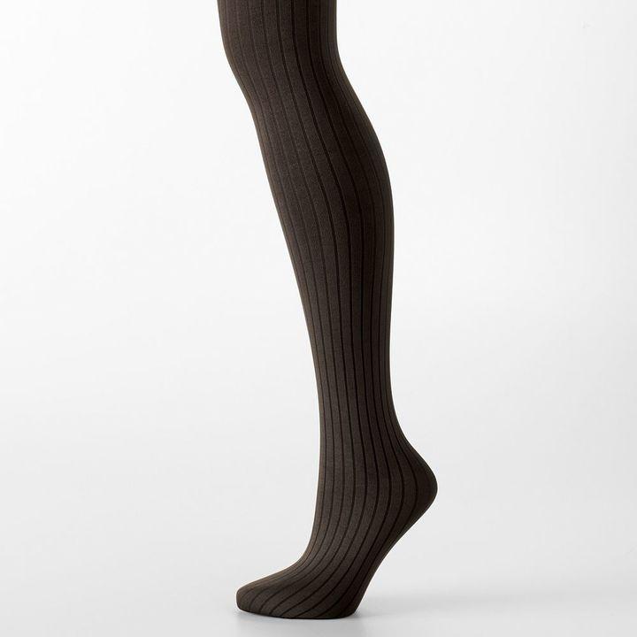 Hanes control-top ribbed tights