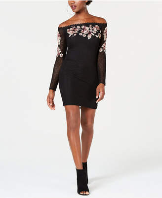 GUESS Luscious Off-The-Shoulder Dress