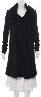 Helmut Lang Merino Wool-Trimmed Wool Blend Coat