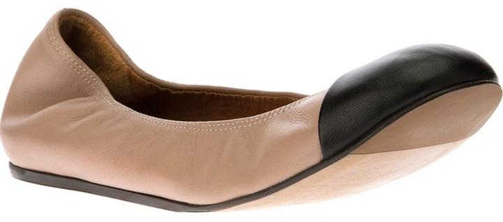 Lanvin contrast toe ballerina