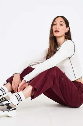 Urban Outfitters Burgundy Ripstop Pant
