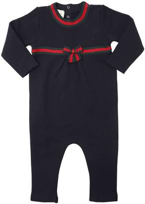 Gucci Cotton Sweatshirt Romper