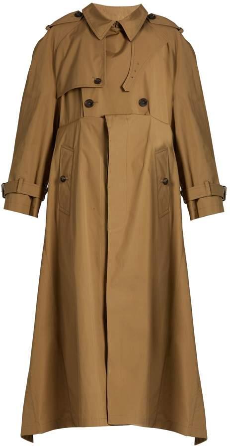 Balenciaga BALENCIAGA Double-breasted cotton-gabardine trench coat