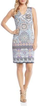 Karen Kane Tile-Print Sheath Dress