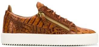 Giuseppe Zanotti Kriss crocodile effect sneakers