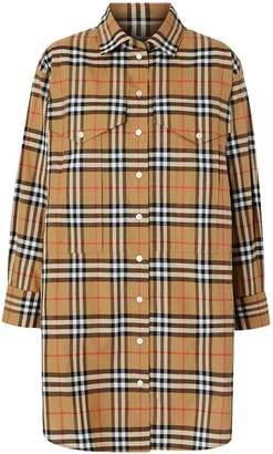 Burberry oversized Vintage check shirt