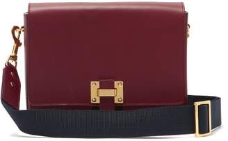 Sophie Hulme Quick Small Leather Cross Body Bag - Womens - Burgundy