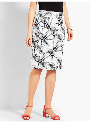 Talbots Parrot Paradise Pencil Skirt