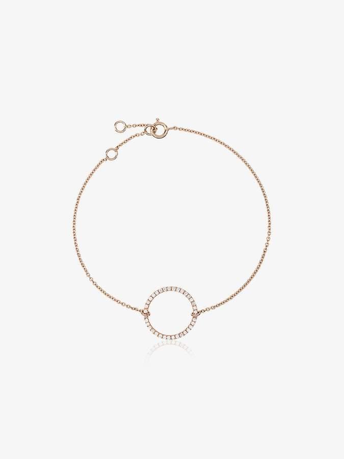 Rosa De La Cruz 18k rose gold Eternity 15 diamond bracelet