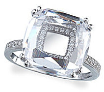 Crislu Diamond Reflections Micro Pave Cubic Zirconia Ring