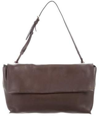 The Row Leather Shoulder Bag Brown Leather Shoulder Bag