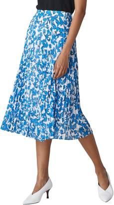 Whistles Cordillia Print Pleated Skirt