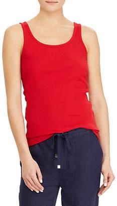 Lauren Ralph Lauren Ribbed Stretch Cotton Tank Top