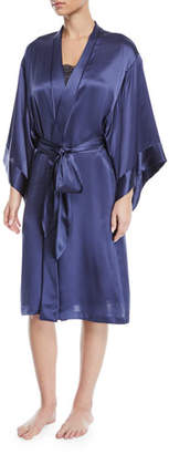 Josie Natori Key Essentials Short Silk Robe
