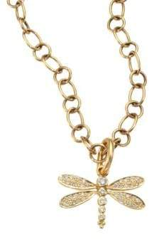 Temple St. Clair Tree of Life Diamond& 18K Yellow Gold Dragonfly Enhancer