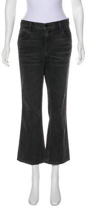 Alexander Wang Denim x Mid-Rise Wide-Leg Jeans