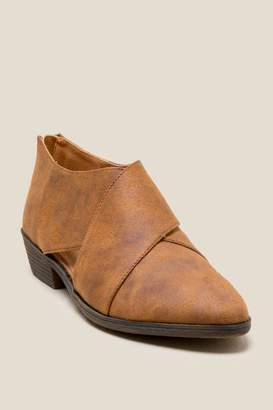 Lust For Life L4L Tumble Criss Cross Low Ankle Boot - Cognac