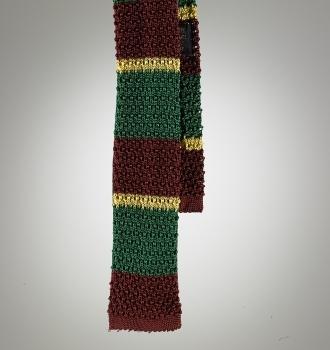 Silk Knit Stripe Tie