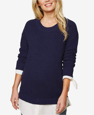 Motherhood Maternity Layered-Look Sweater
