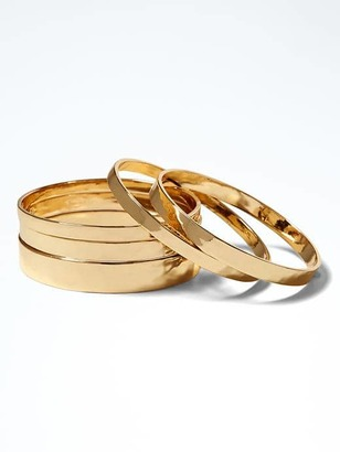 Hammered Bangle Set $68 thestylecure.com