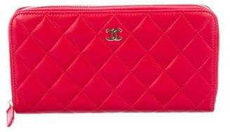 Chanel Quilted CC Zip-Around Wallet