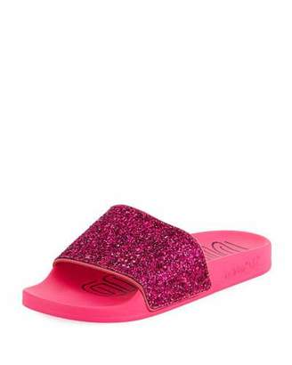 85da36637fed adidas Adilette Glitter Vinyl Pool Slide Sandals