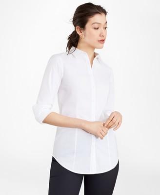 Brooks Brothers Tailored-Fit Performance Non-Iron COOLMAX Poplin Shirt