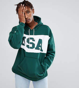 Reclaimed Vintage Inspired Hoodie With USA Print