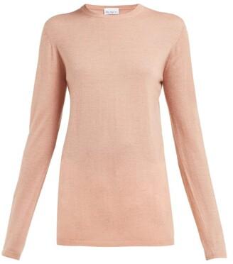 Raey Longline Fine Knit Cashmere Sweater - Womens - Pink