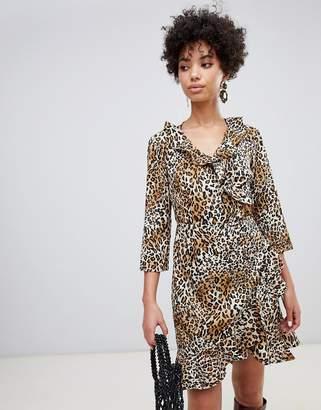 Vero Moda leopard wrap dress