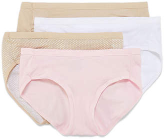 Hanes Ultimate Cool Comfort Fit Cotton Stretch 4 Pair Knit Hipster Panty 41cswb
