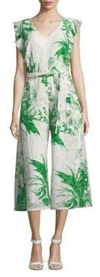 Gabby Skye Floral Cropped Jumpsuit